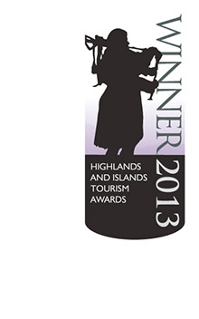 Winner of the 2013 Highlands and Islands Tourism Award