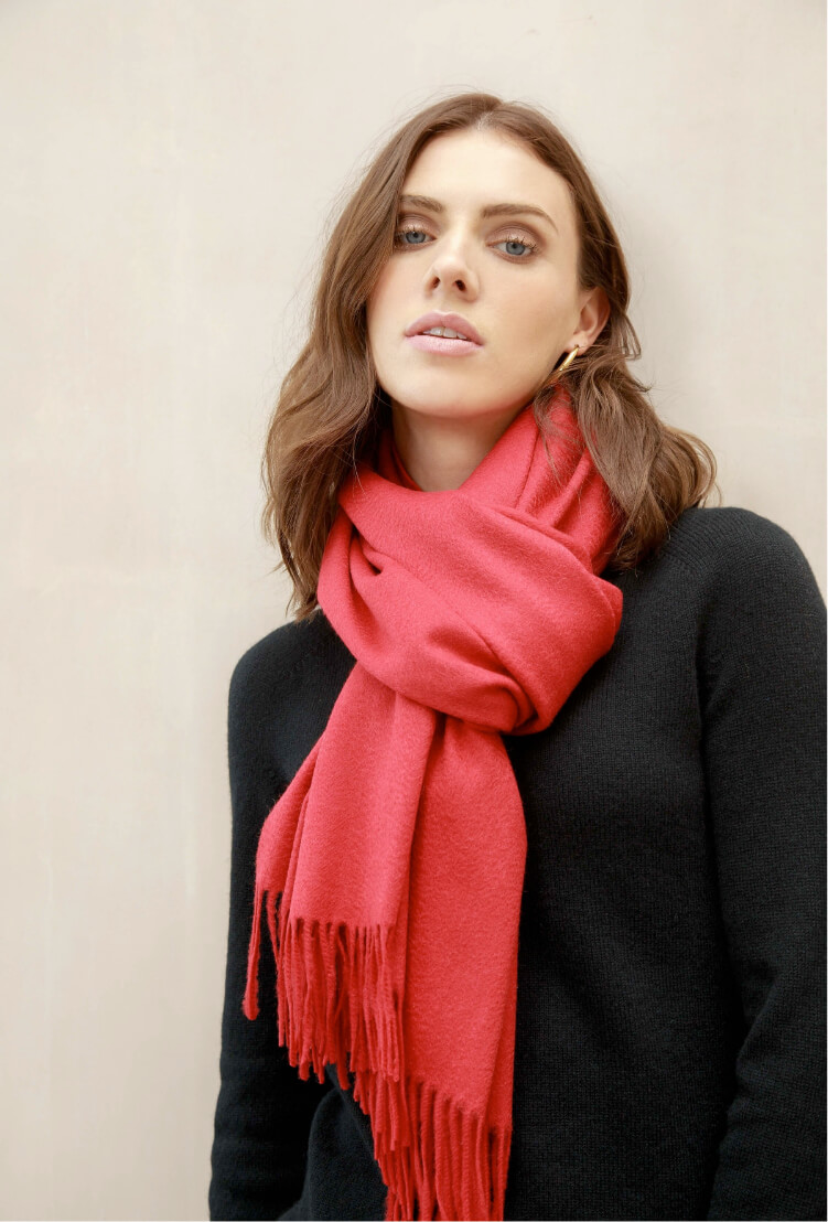 Classic Red Classic Cashmere Stole