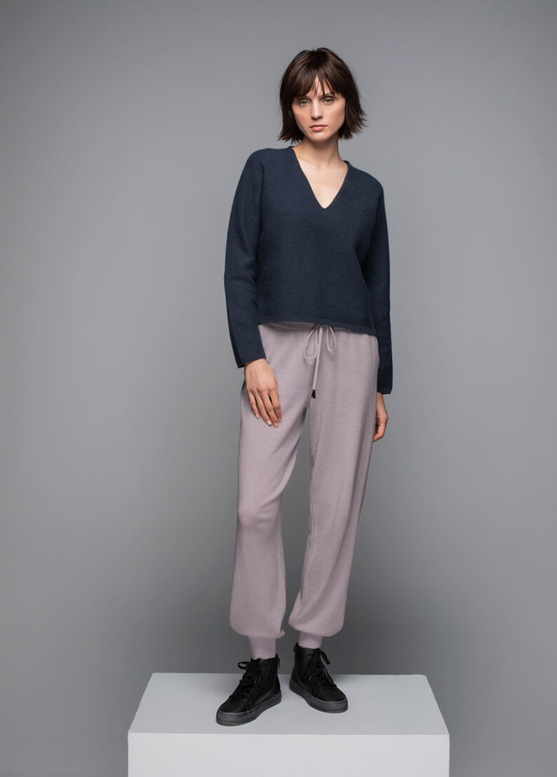 Josephine Low Rise Cashmere Joggers in Haze