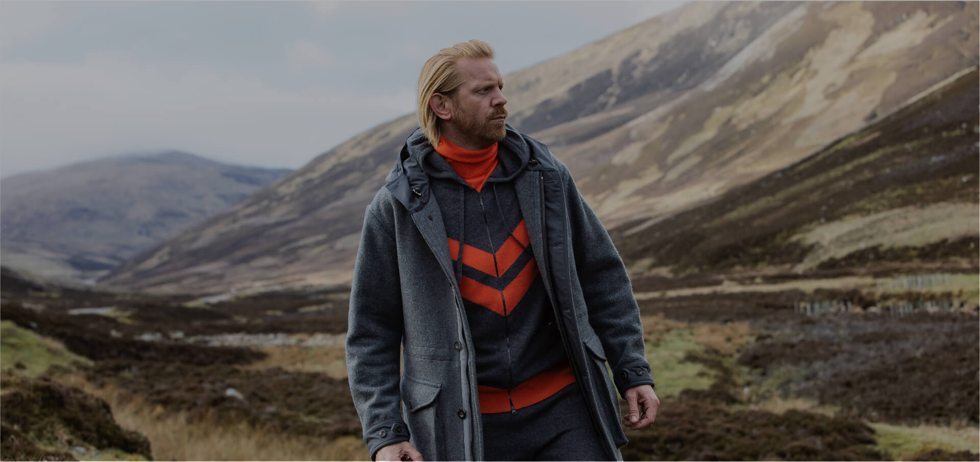Alistair Guy on location for the Johnstons of Elgin AW19 photoshoot
