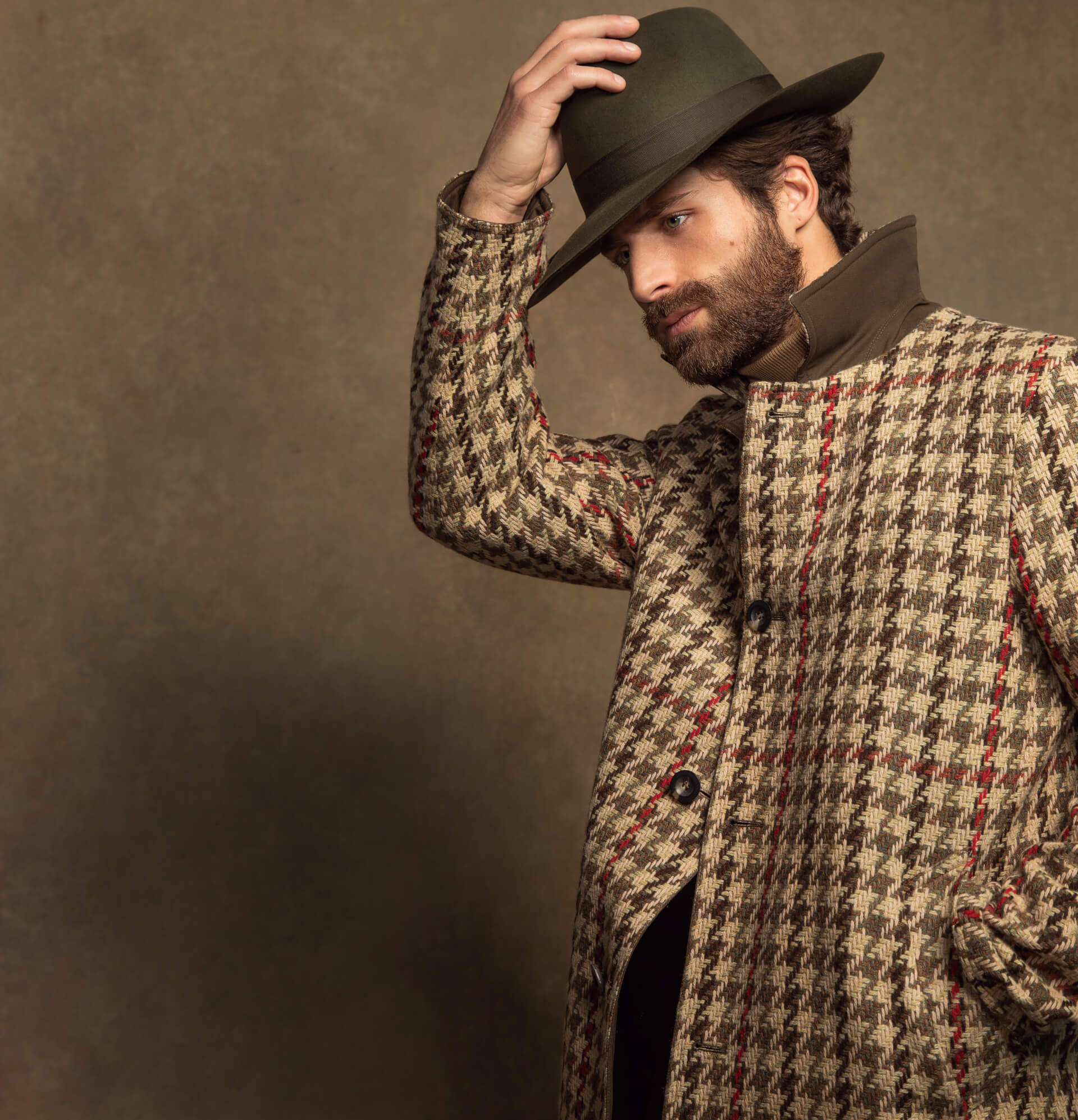 Johnstons of Elgin Mens Origins Contemporary Tweed Collection