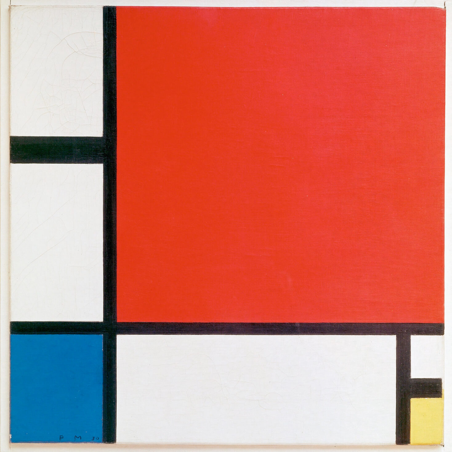 Composition with Red Blue and Yellow by Piet Mondrian