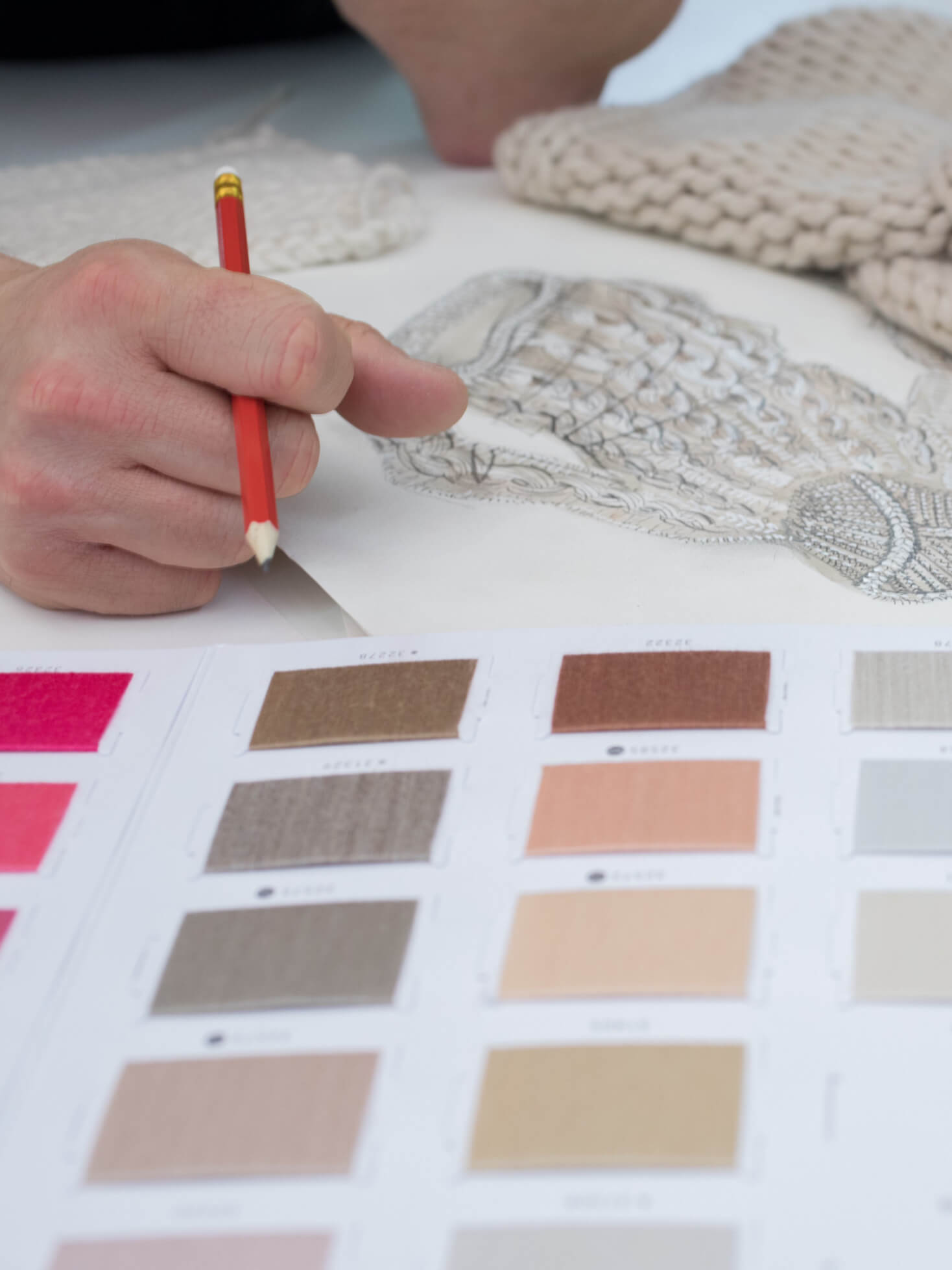 Johnstons of Elgin designers choosing the perfect hues
