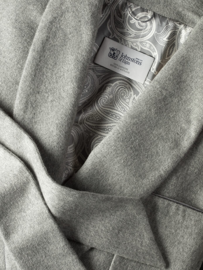 Cashmere Dressing Gown in Grey