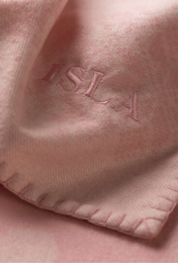 Personalised baby blanket in pink