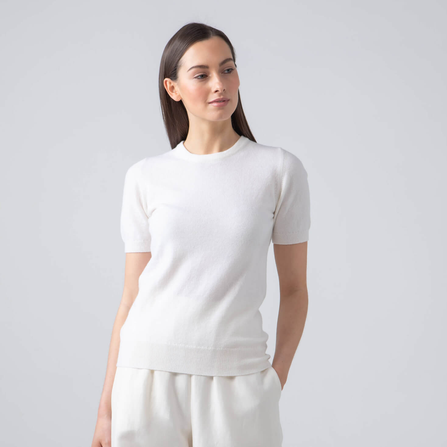 CLASSIC SHORT SLEEVE CASHMERE JUMPER