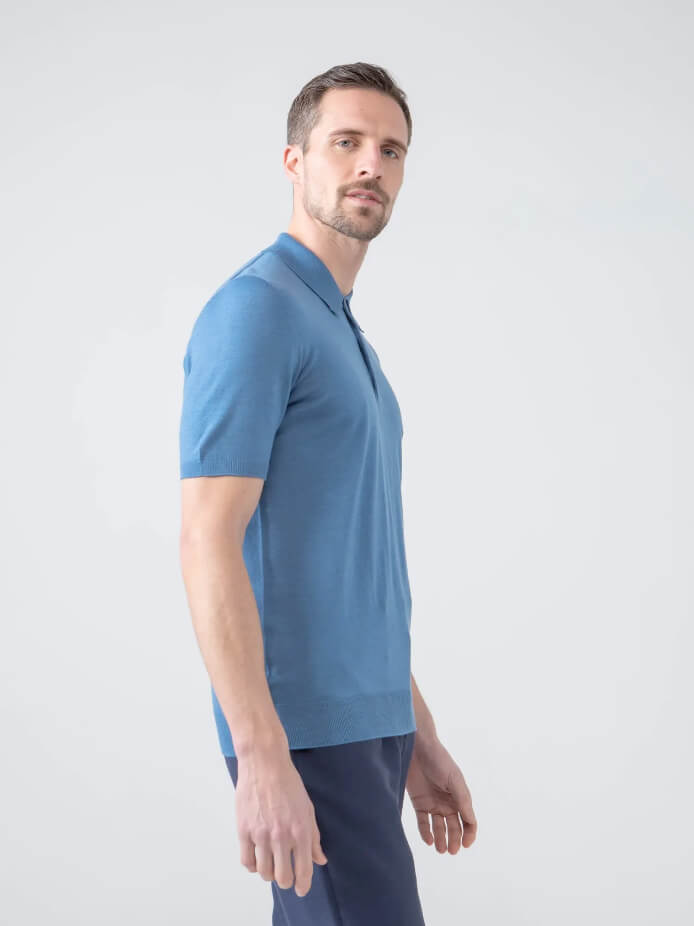 Superfine Worsted Merino Polo Shirt