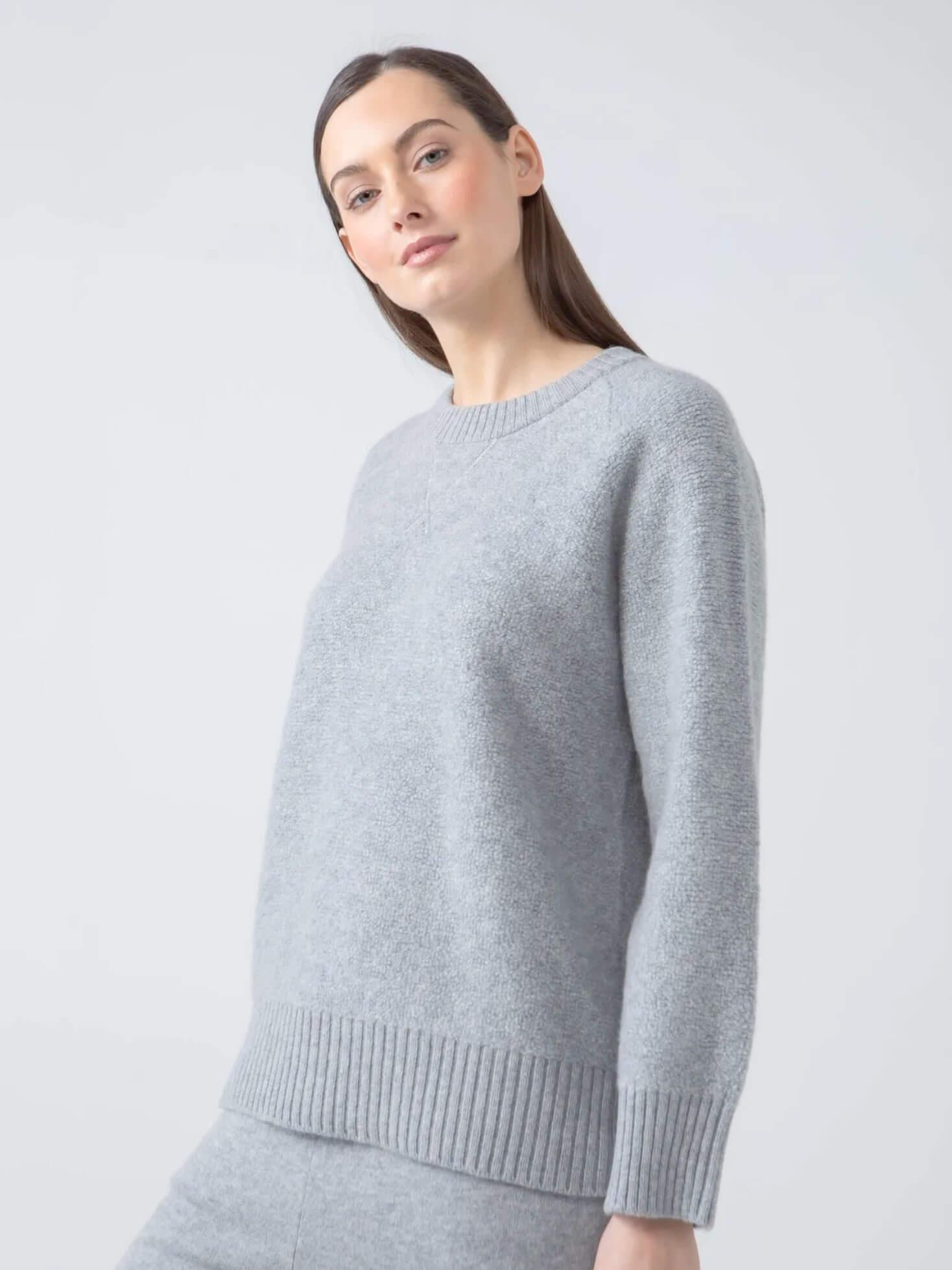 Reversible Cashmere Fleece Sweatshirt