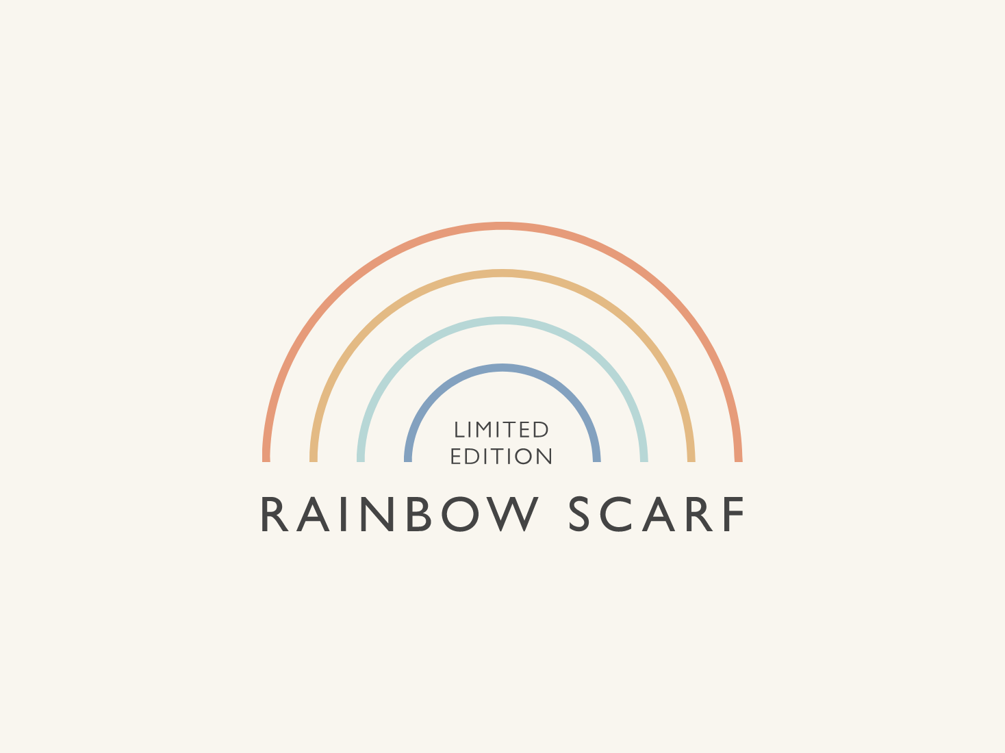 Limited Edition Rainbow Scarf