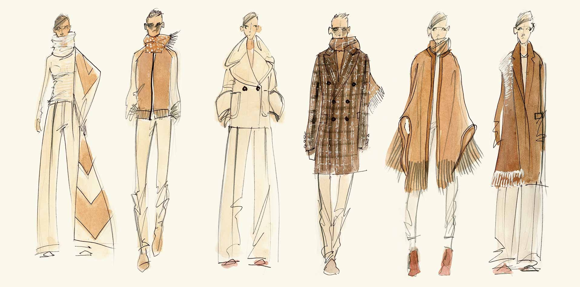 Johnstons of Elgin Natural Undyed collectionsketches